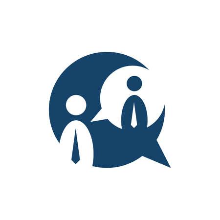 corporate business dialog balloons bubble speech logo vector icon