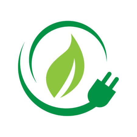 eco friendly renewable bio energy logo design vector illustration