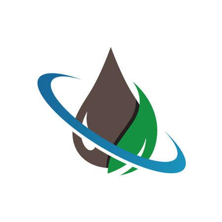 L'icône de conception de logo de biocarburant vert eco illustrations vectorielles