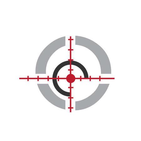cible logo design vecteur icône éléments symboles illustrations
