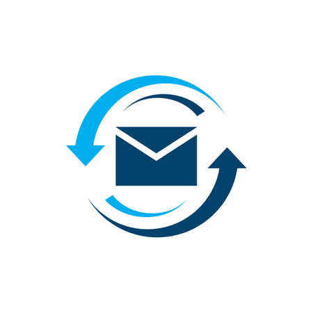 messages email icon logo vector on a white background  in modern design style