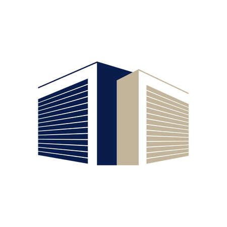 Secured public Self Storage Logo Design vector illustration
