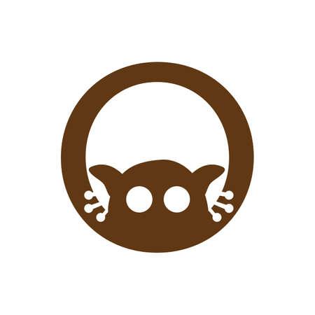 abstract cute tarsier logo vector graphic design icon symbol Ilustrace