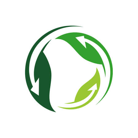 sign of alternative renewable energy logo design vector illustrations