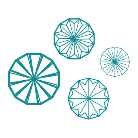 geometric round shape rings abstract circle logo vector design graphic element