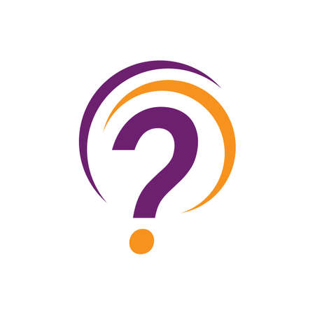 stylish question mark logo design vector creative illustration concept