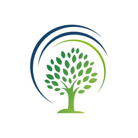 silhouette tree logo vector graphics elements concept