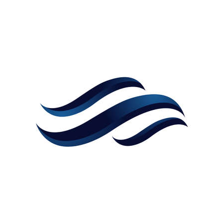 Ocean Water Waves logo Design Vector Template Water Waves Icon Vectores