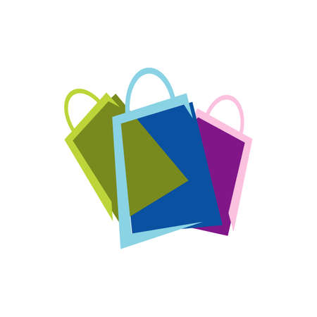 shopping bags logo design icon online shop symbol vector illustrations