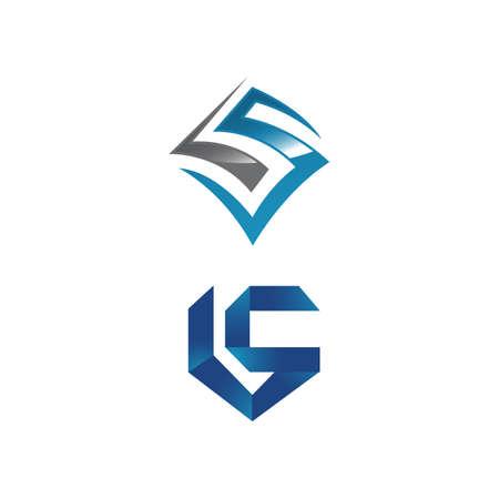 creative LS Letter logo design vector graphic concept illustrations Logó