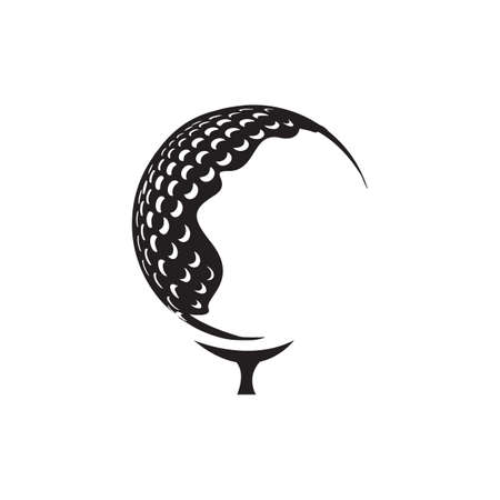 simple golf ball logo design vector template illustrations Иллюстрация