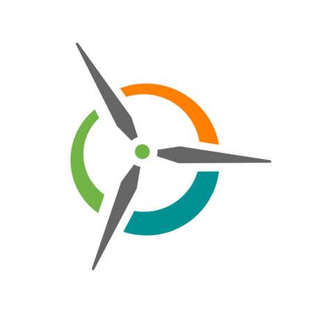 abstract water wind spinning turbine logo design vector illustrations Ilustrace