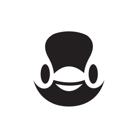 Simple black and white penguin logo design vector symbol illustration.