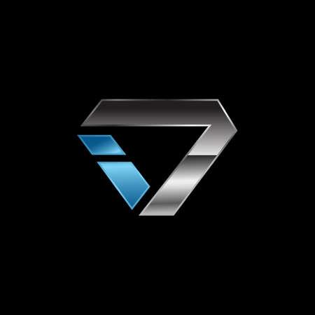 shinning jewelry diamond logo design vector illustrations Standard-Bild - 129464393
