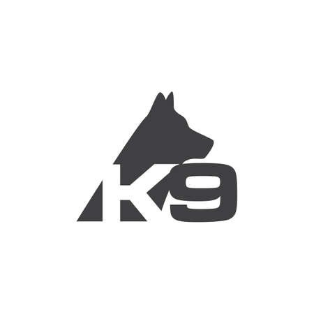 training k9 Dog logo design vector ideas on a white background 向量圖像