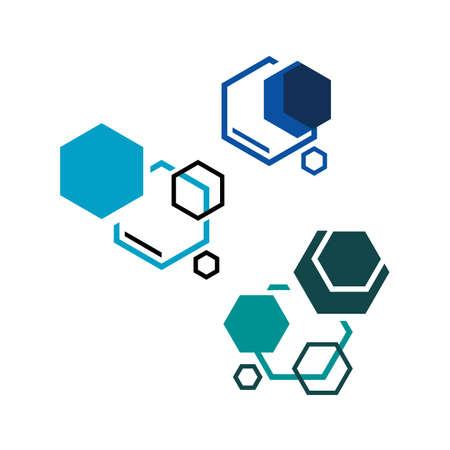 creative hexagon bio technology symbol Lab logo template vector design