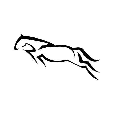 Horse Logo Template Vector illustration design. emblem of horse head on white background.