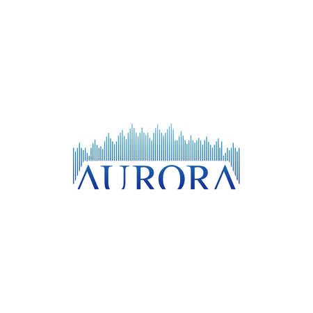 stylish text aurora logo design vector illustrations