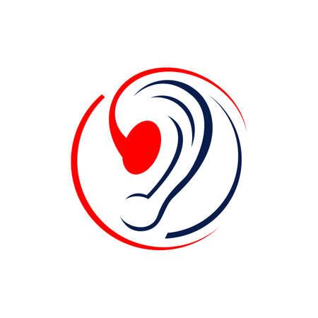 Ear vector icon hearing aid logo design graphics vector illustrations Ilustração