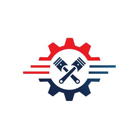 creative illustration car mechanic auto repair logo vector graphic illustration