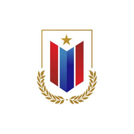 pride of patriotic logo design badge emblem elements vector icons