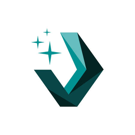 shinning jewelry diamond logo design vector illustrations Illusztráció