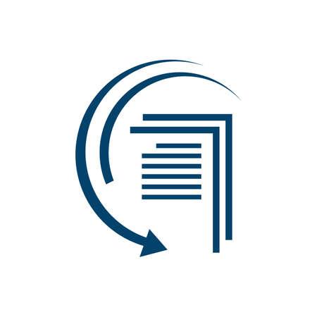 file transfer icon logo vector brand design template illustrations
