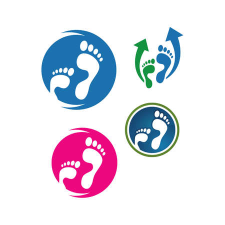 podiatric care foot print logo design vector icon illustration template Ilustracja