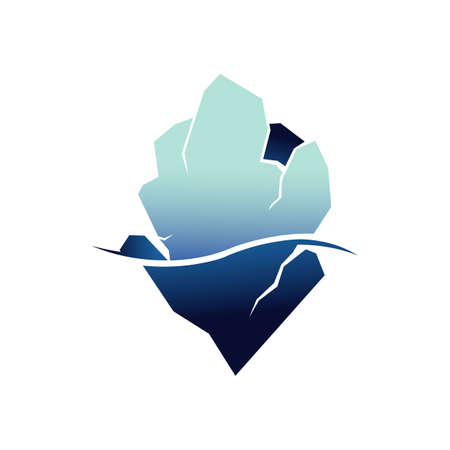 glaciers iceberg logo design vector illustration isolated on white background Stock Illustratie