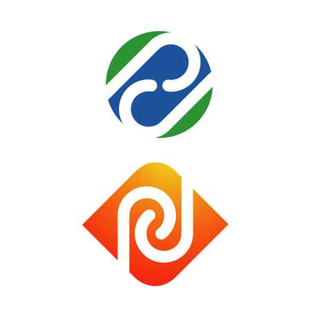 creative concept of loop infinity logo design vector illustrations Illusztráció