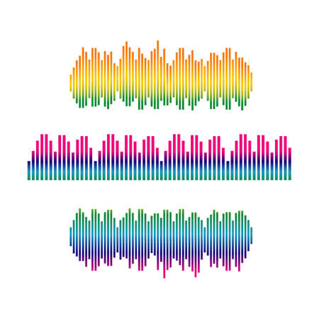 Stylish sound wave logo vector icon ilustration template design