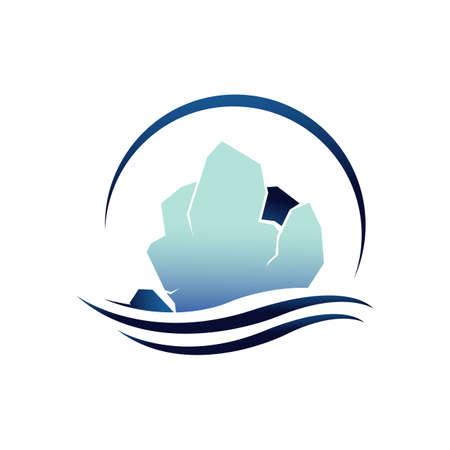 glaciers iceberg logo design vector illustration isolated on white background