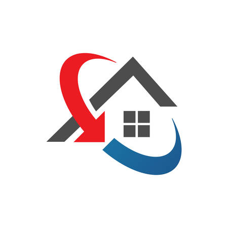 home restoration logo design after disaster repair property maintenance house renovation icon