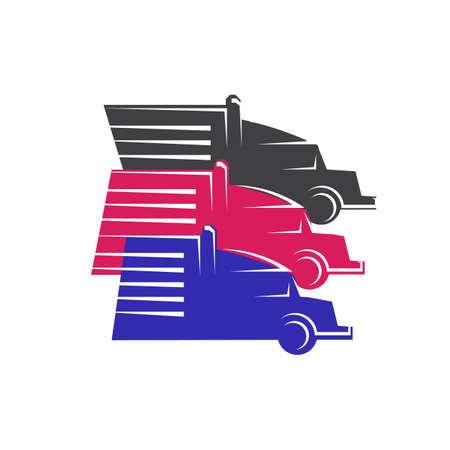 new heavy transportation parking truck logo design vector logotype sign illustration Фото со стока - 131788762