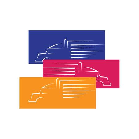 new heavy transportation parking truck logo design vector logotype sign illustration Фото со стока - 131788765