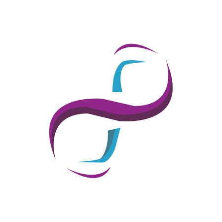 creative stylish concept of infinity logo design vector illustrations Illusztráció