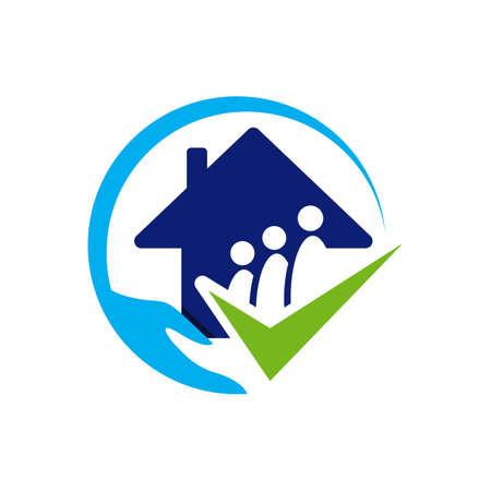 nursing home logo design home care elderly vector illustrations Фото со стока - 132148580