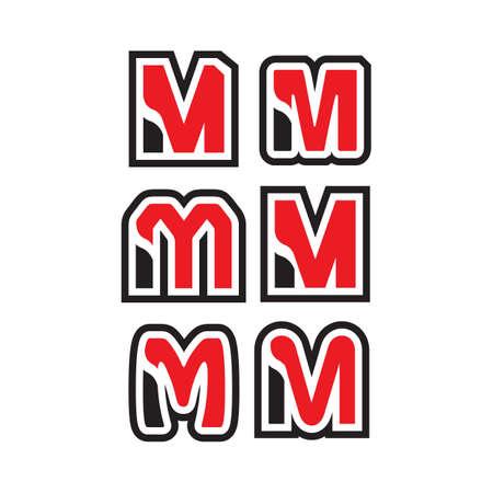 creative M Letter logo design vector graphic concept illustrations