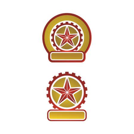creative emblem badge texas star vector logo design insignia Ilustração