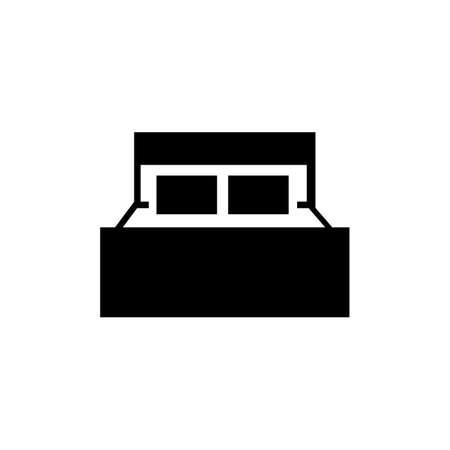 simple black bed logo vector design vector illustration inspiration