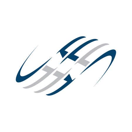 creative modern water wave logo design vector symbol and icon illustration