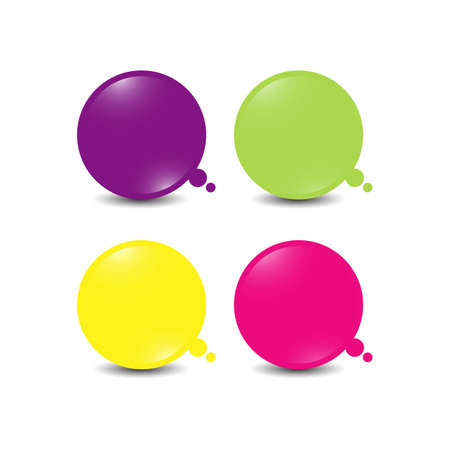 set of colorfull dialog balloons bubble think logo design vector icon