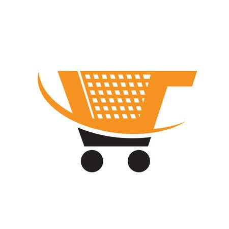 trolley shopping cart logo icon design shop symbol vector illustrations