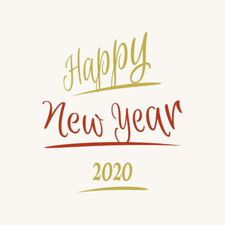 Happy New Year letter vintage style background.  january 1 holiday background.  greeting card design for celebrating new year moments Vector illustration EPS.8 EPS.10 Ilustrace