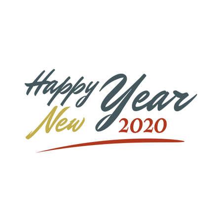 Happy New Year letter vintage style background.  january 1 holiday background. Ilustrace