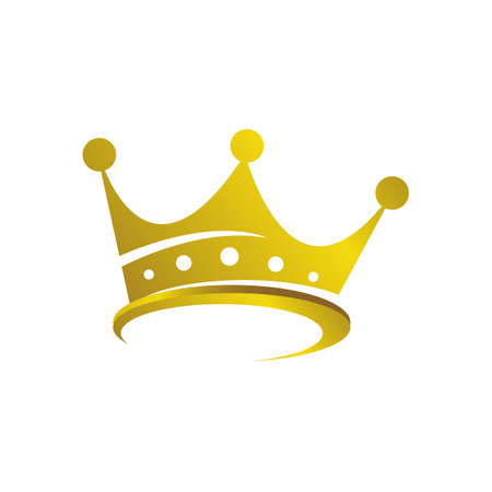 Gold Crown Logo Royal King Queen abstract design vector illustration Ilustrace