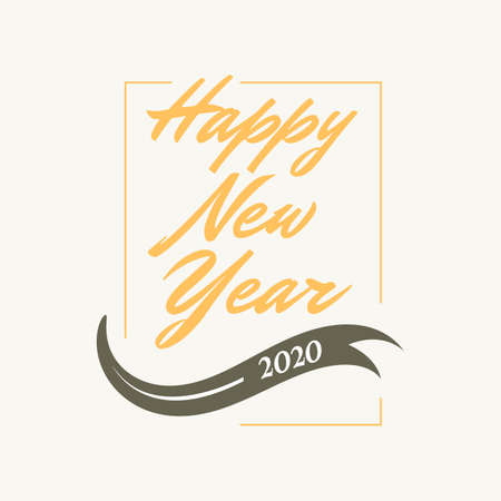 Happy New Year letter vintage style background. 