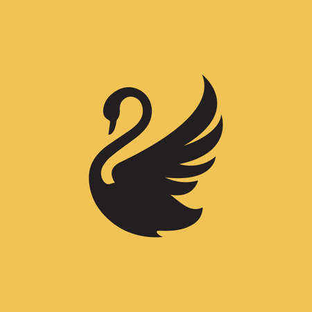 new luxury stylish spreading wings swan logo design vector logotype sign illustration Ilustrace