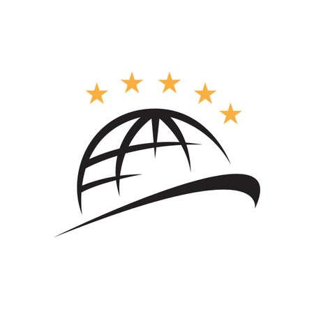 five stars quality world class icon logo vector illustrations