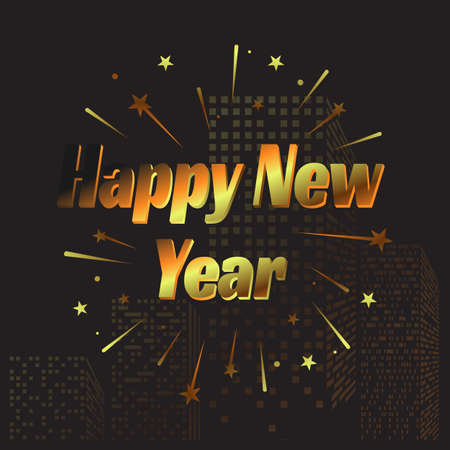Happy New Year letter modern style background. Ilustrace